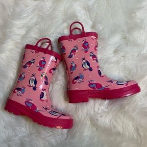 Hatley pink rain boots, 13